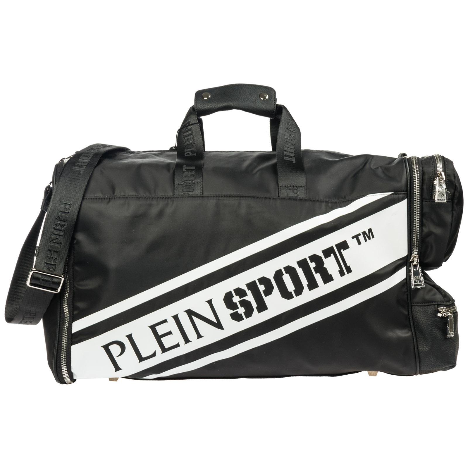 Duffle bag Plein Sport S19A MBD 0121 STE003N black - white  5cb73c5eb1792