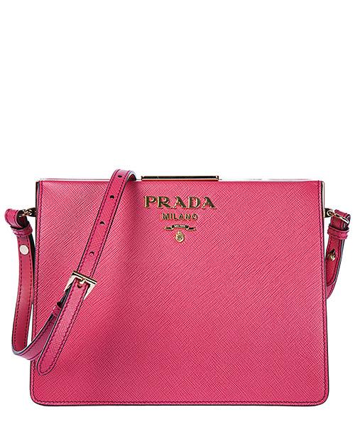Crossbody bag Prada 1BC0462EVUF0505 peonia