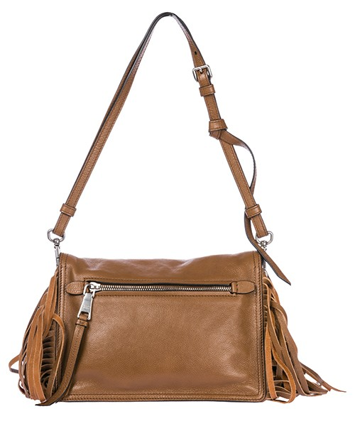 Women's leather shoulder bag glacé secondary image