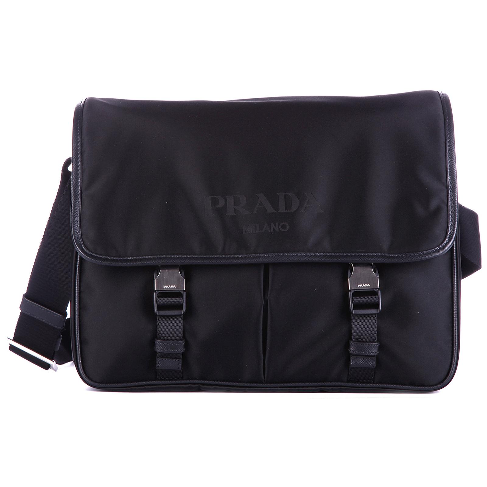 a3d9d0e7f561 Prada Men s nylon cross-body messenger shoulder bag