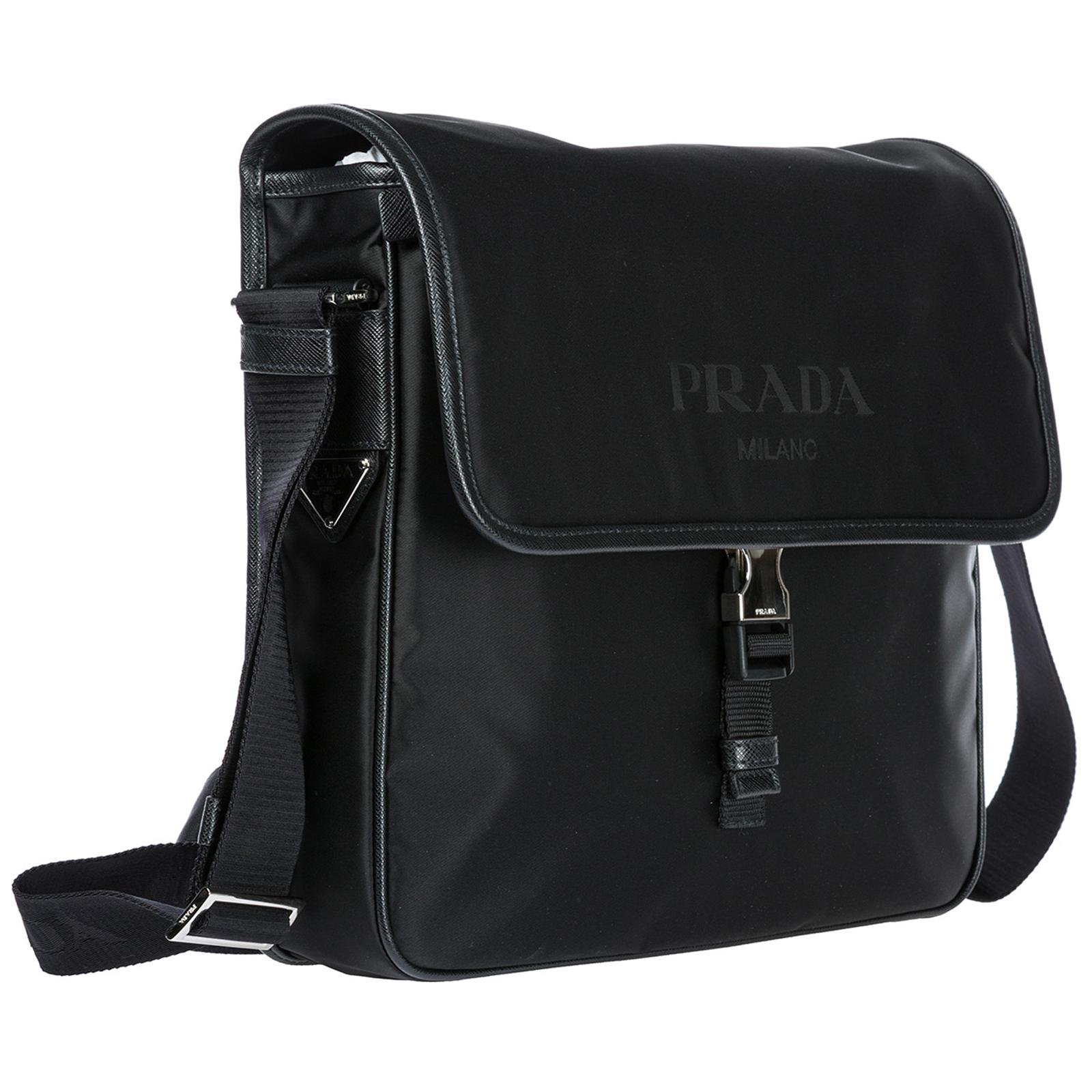 8ac4e2d3c4e8 ... Men's nylon cross-body messenger shoulder bag ...
