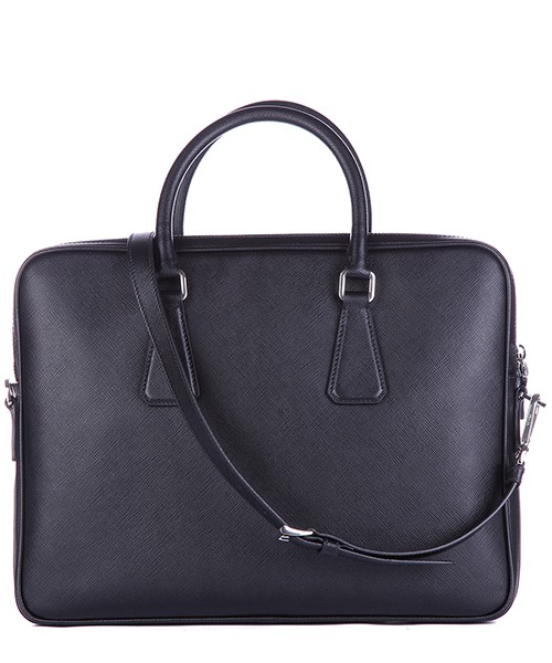 Sac porte-documents homme en cuir saffiano travel secondary image