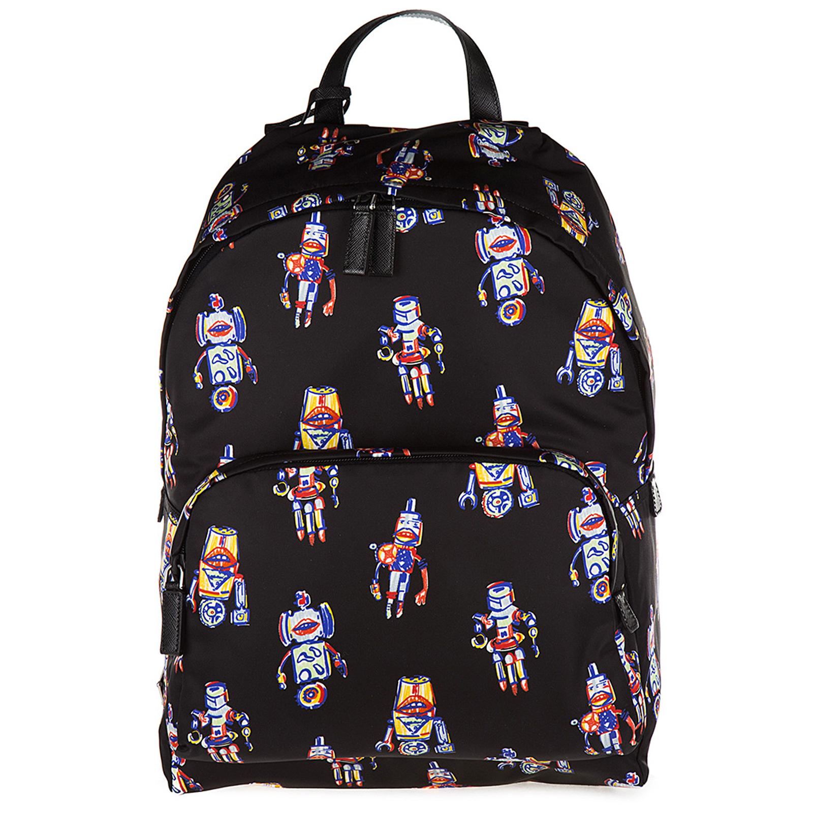 6ca910ad199f Prada Men s nylon rucksack backpack travel robot