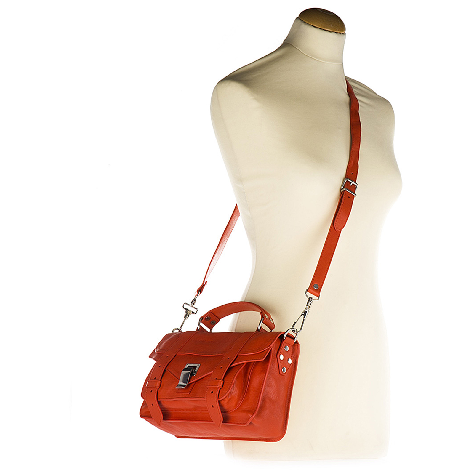Women's leather handbag shopping bag purse tiny lux