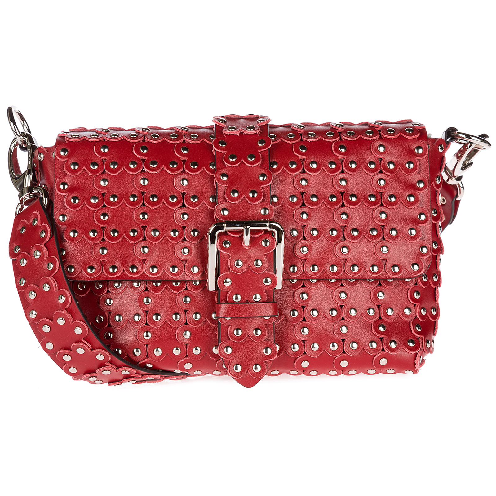 Borsa donna a spalla shopping in pelle flower puzzle