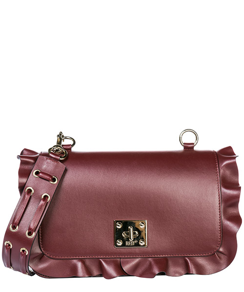 Shoulder bag Red Valentino Rock Ruffles QQ2B0A75EAVW53 bordeaux