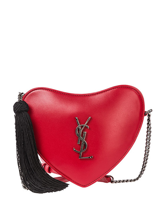 Sac bandoulière Saint Laurent Paris Heart 5406940XB6D6572 rosso