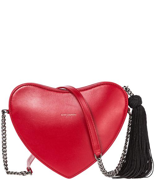 Umhängetasche damen tasche schultertasche messenger leder heart secondary image