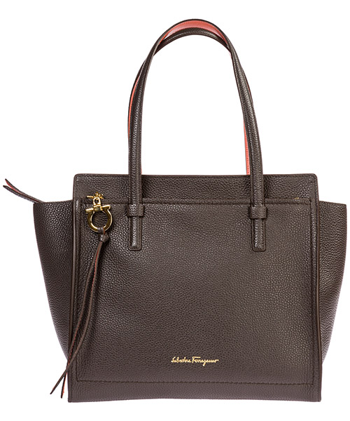 Shoulder bag Salvatore Ferragamo Amy 21F216 714338 greige / granita