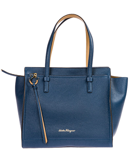 Shoulder bag Salvatore Ferragamo Amy 21F216 714339 blu
