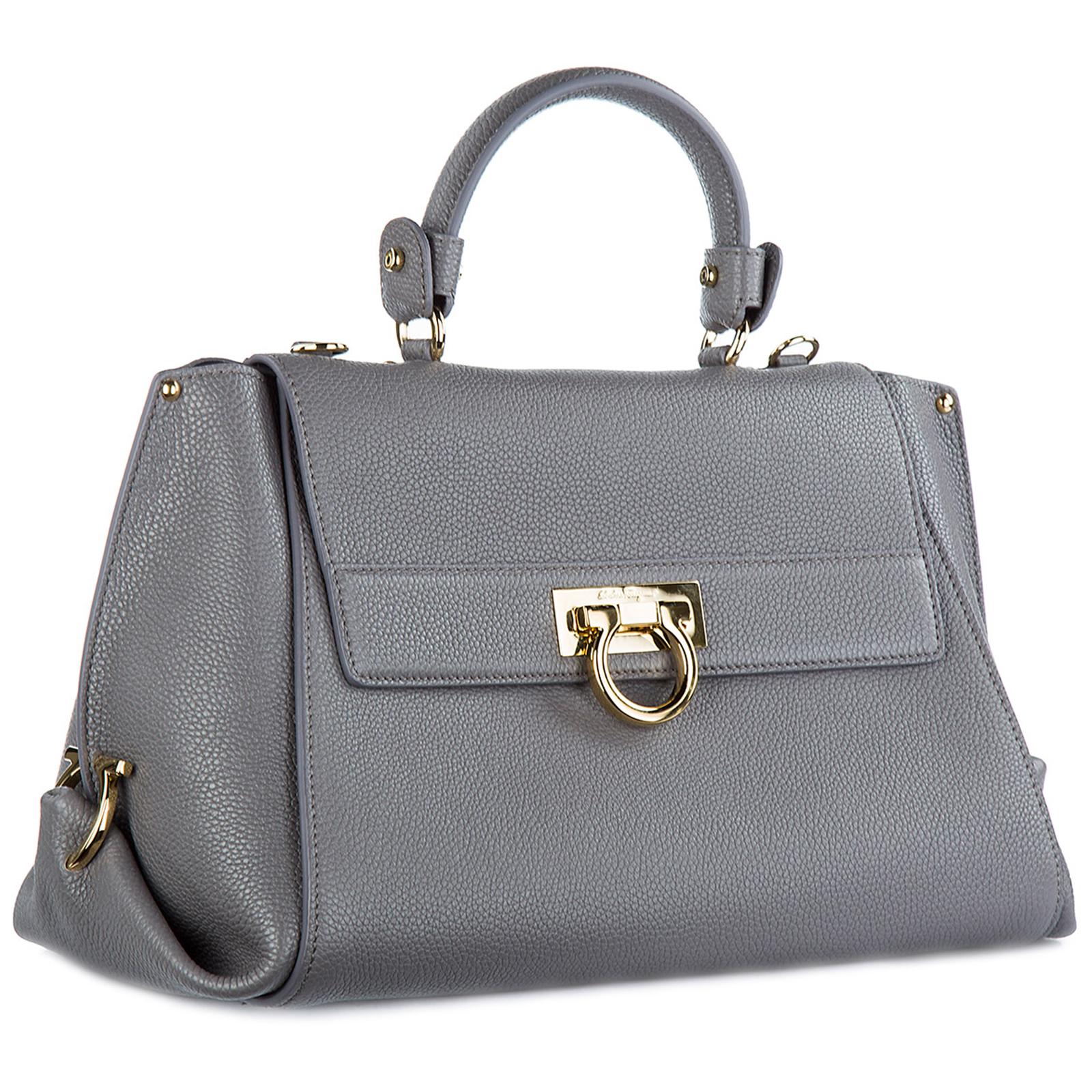 149ba93901 Handbag Salvatore Ferragamo Sofia 21F606670869 urban grey - fumee ...