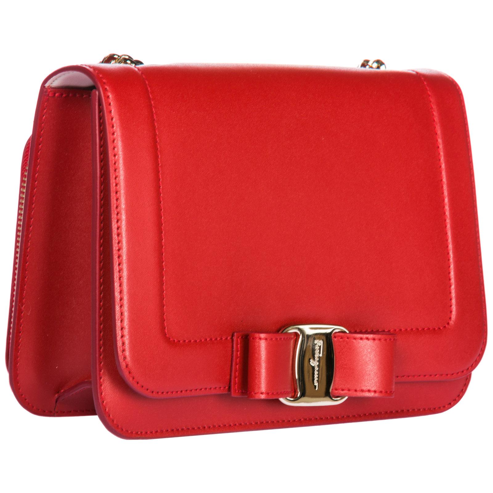 809f2ed6cadd Salvatore Ferragamo Women s leather cross-body messenger shoulder bag vara  rainbow
