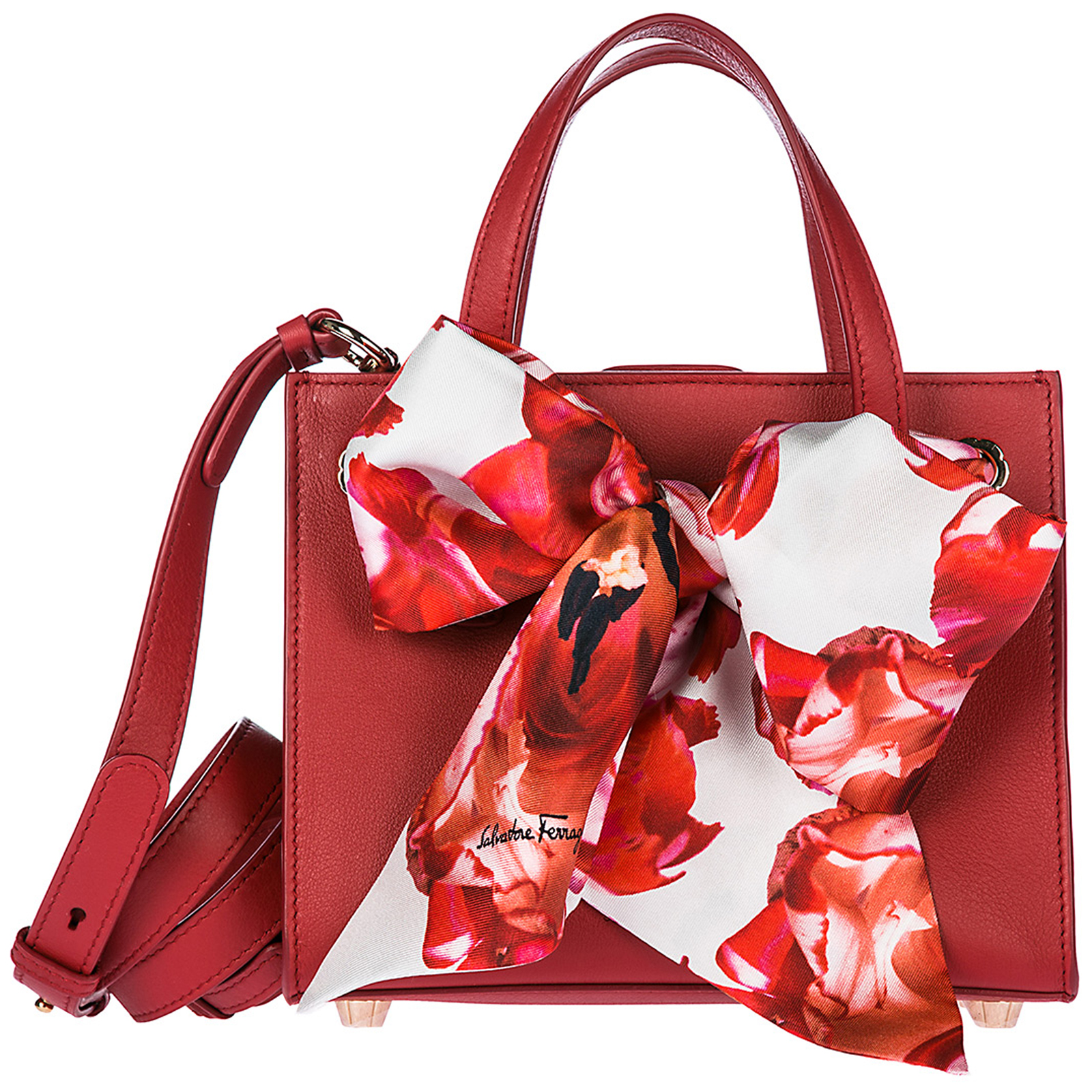 Borsa donna a mano shopping in pelle tote foulard