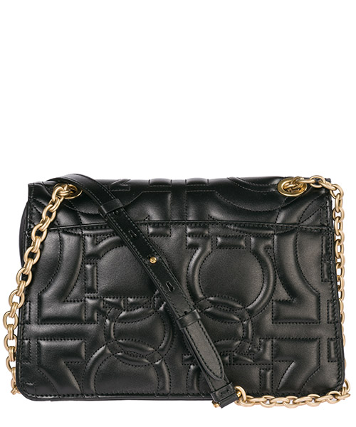 Women's leather shoulder bag gancini secondary image
