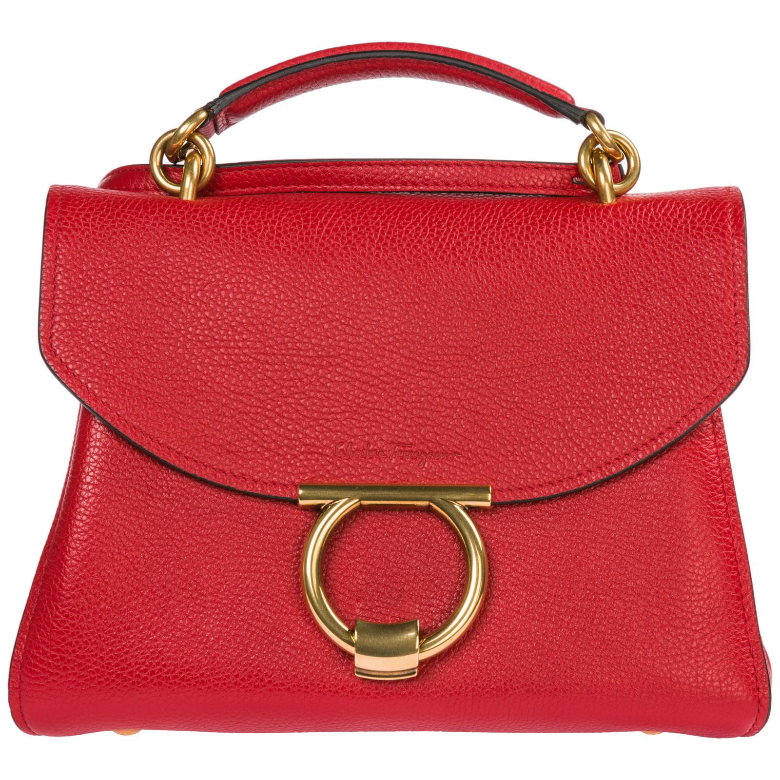 9e7bd37f37f0 Salvatore Ferragamo Women S Handbag Shopping Bag Purse Tote In Pelle In Red