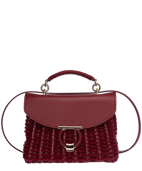 Handtaschen Salvatore Ferragamo gancini 21h638 725879 rosso