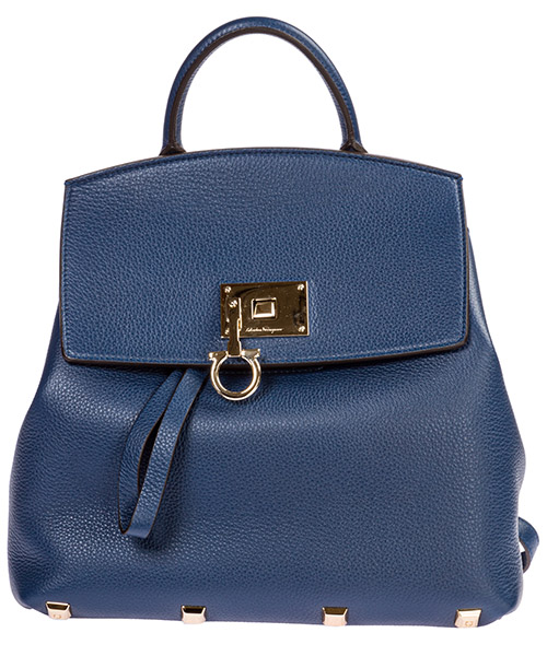 Backpack Salvatore Ferragamo Studio 21H718 716800 deep sky blue