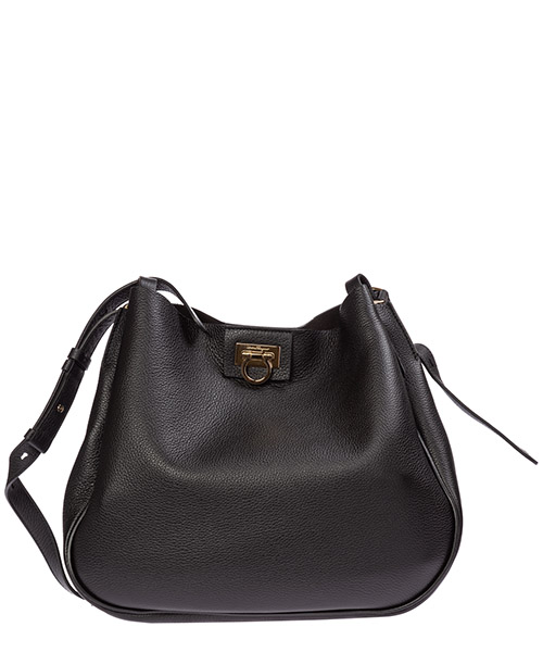 Shoulder bag Salvatore Ferragamo gancini 21h904 720821 nero