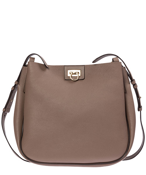 Shoulder bag Salvatore Ferragamo gancini 21h9047 20825 caraway seed