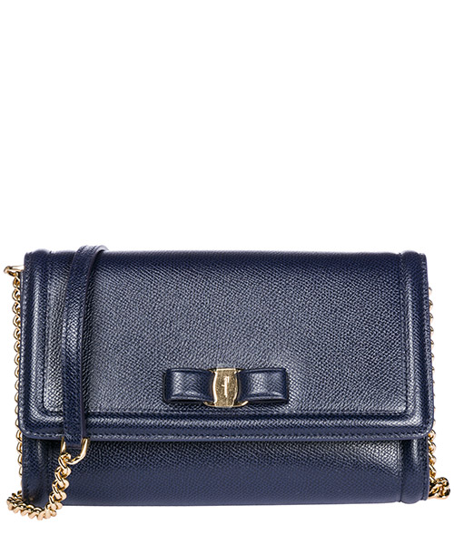 Mini bag Salvatore Ferragamo Fiocco vara 22C940 675576 blu