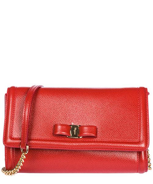 Mini bag Salvatore Ferragamo Fiocco vara 22C940 675578 lipstick
