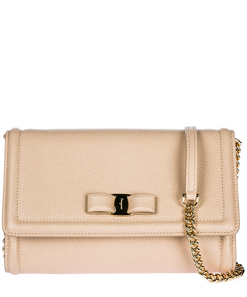 Clutch bag Salvatore Ferragamo Vara 22C940 675579 beige