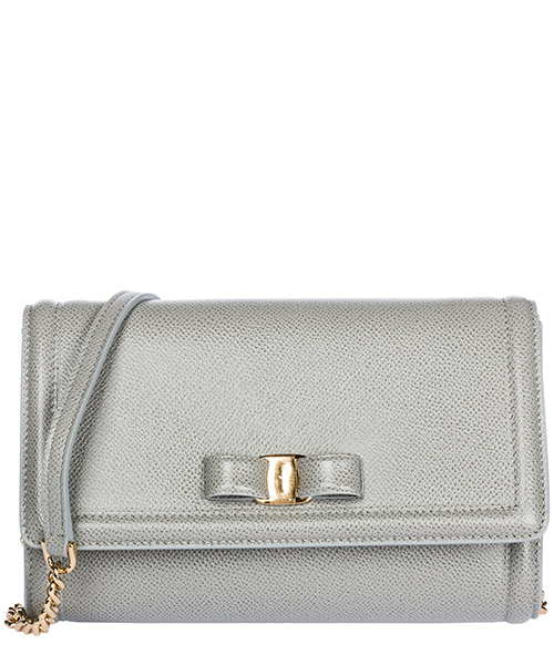 Mini bag Salvatore Ferragamo Fiocco vara 22C940 691029 pale grey