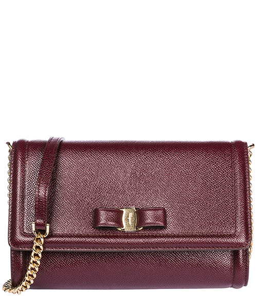 Mini bag Salvatore Ferragamo Fiocco vara 22C940 694593 wine