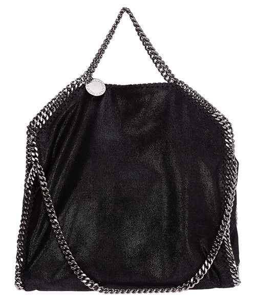 Borsa a mano Stella Mccartney falabella fold over 234387w91321000 nero