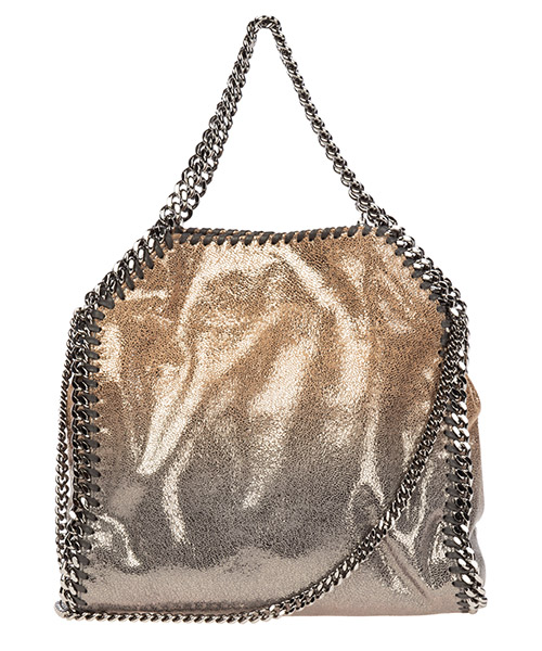 Borsa donna a mano shopping tote falabella mini shaggy deer metallic degrade secondary image