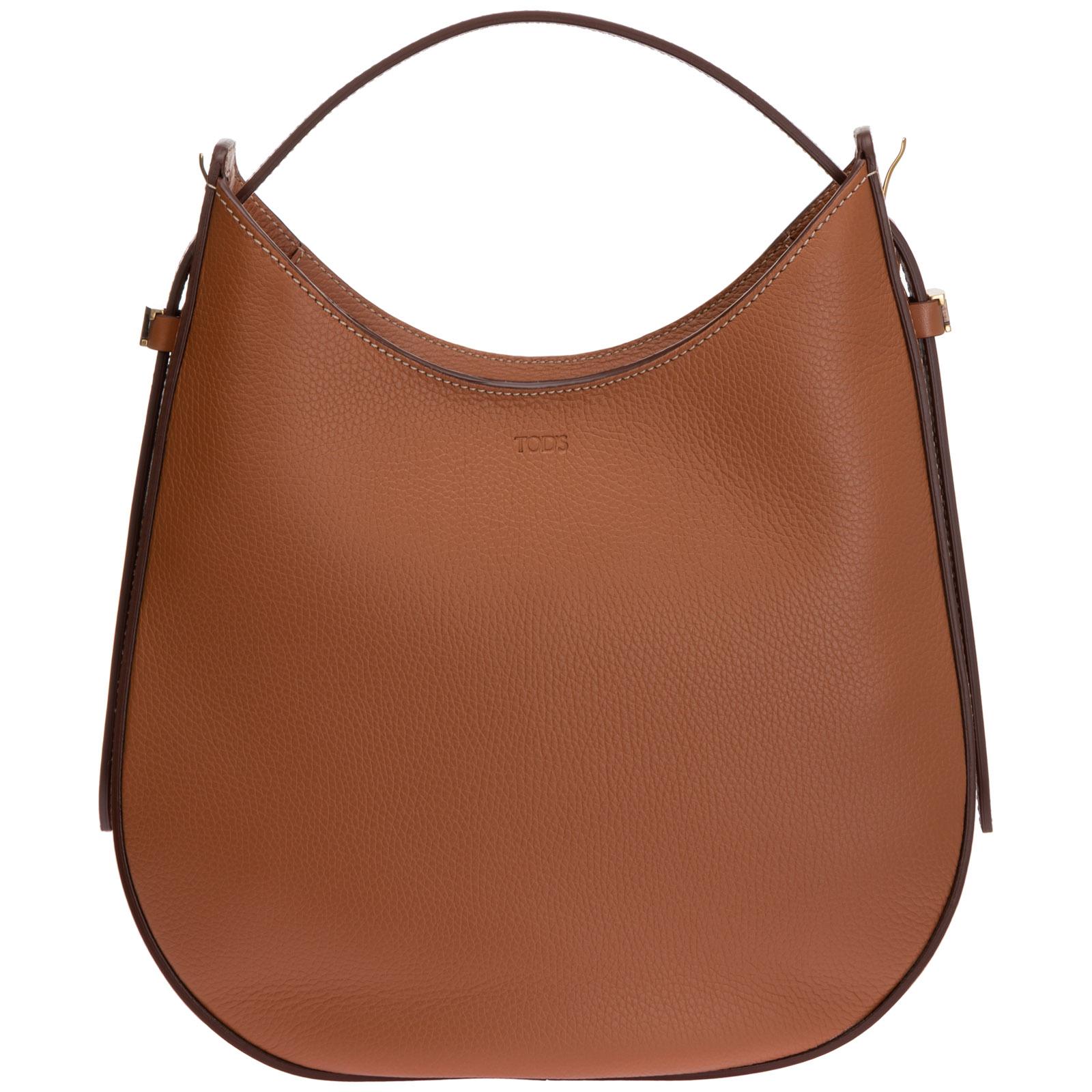 TOD'S WOMEN'S LEATHER SHOULDER BAG