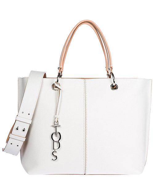 Handbag Tod's XBWANQAC300RIB0169 bianco