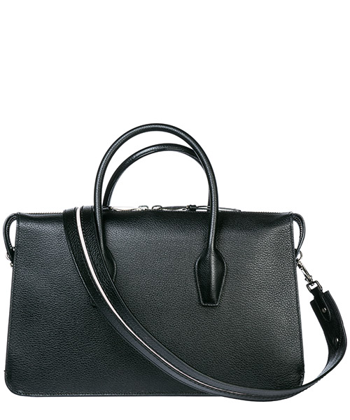 Borsa donna a mano bauletto in pelle secondary image