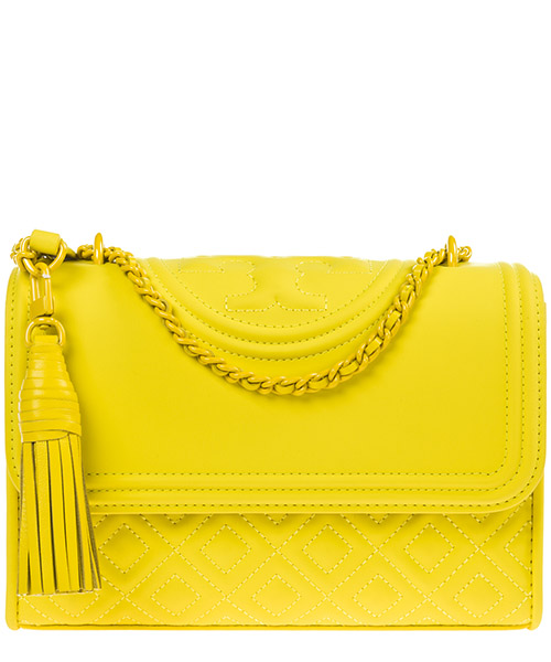 Shoulder bag Tory Burch Fleming 39927 791 yellow orchid
