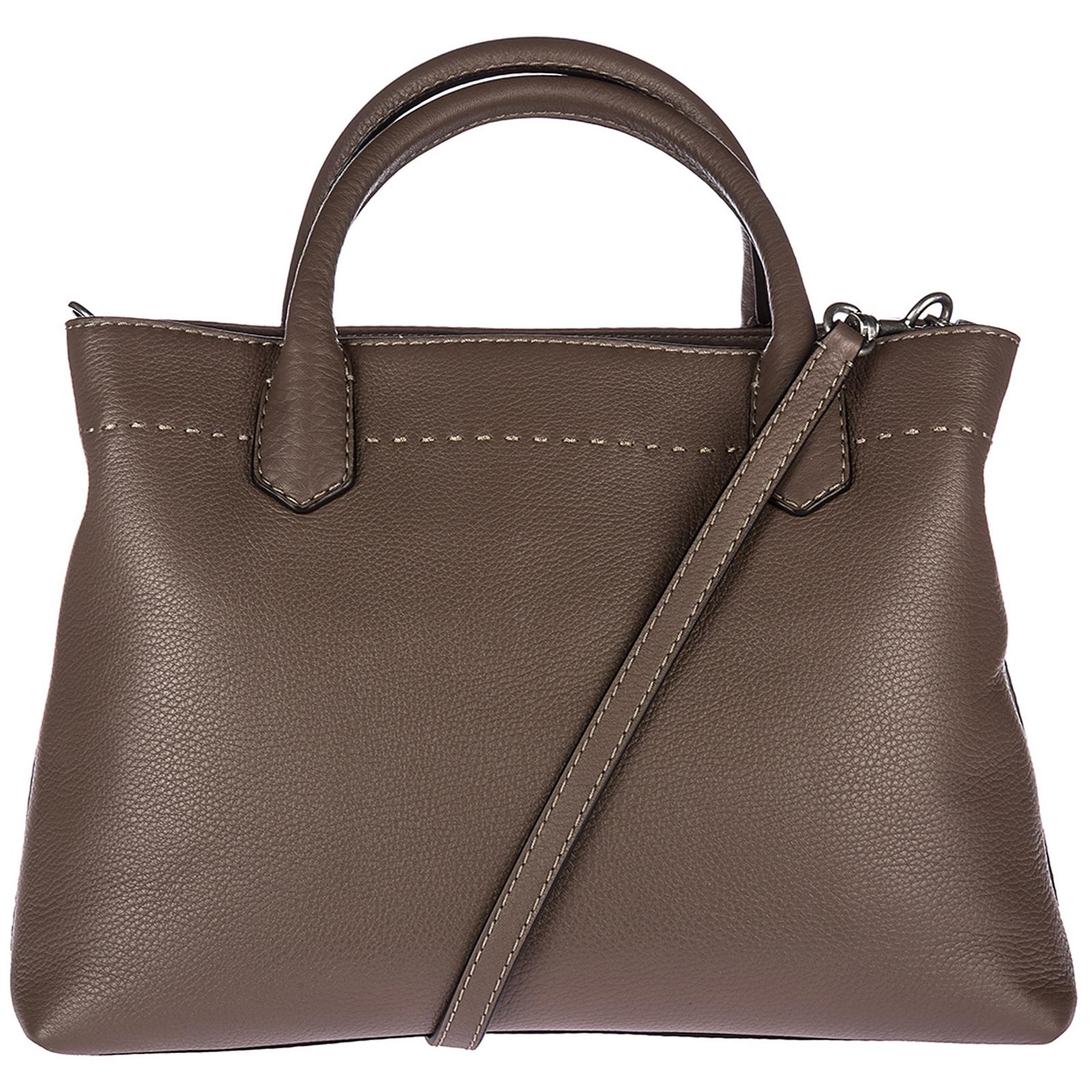 f1f0f2138b9a36 Tory Burch Women s leather handbag shopping bag purse mcgraw
