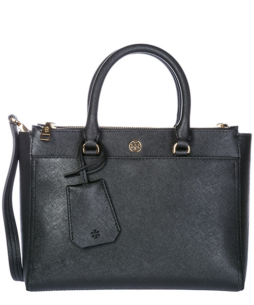 Bolso de mano Tory Burch Robinson 46331 018 black - royal navy