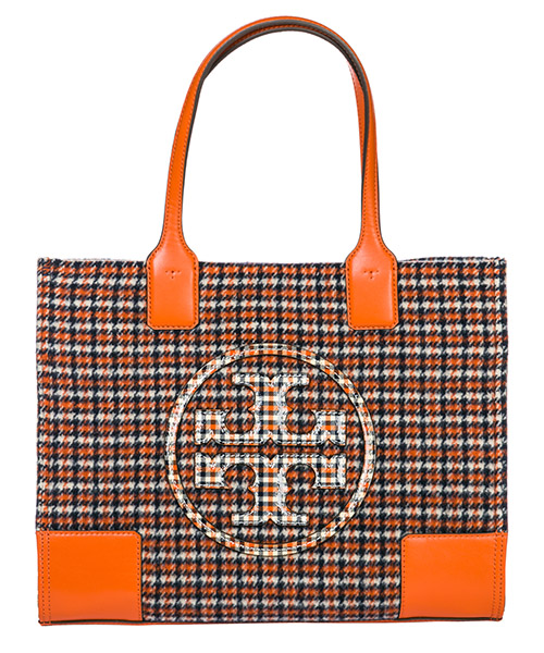 Borsa a mano Tory Burch Ella Plaid mini 50217819 arancione