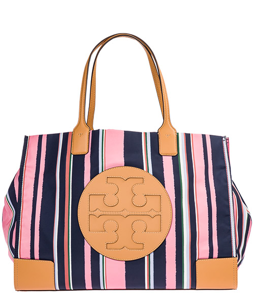 Shoulder bag Tory Burch Ella 56373 488 canyon stripe vertical / perfect navy
