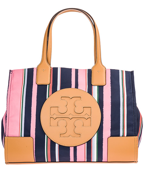 Shoulder bag Tory Burch Ella 56374 488 canyon stripe vertical / perfect navy