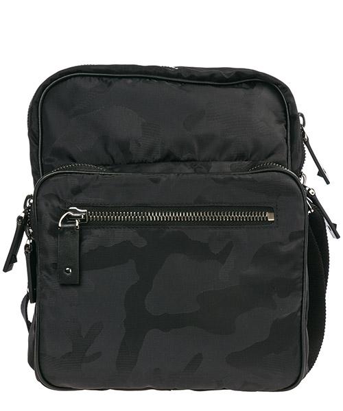 Men's nylon cross-body messenger shoulder bag