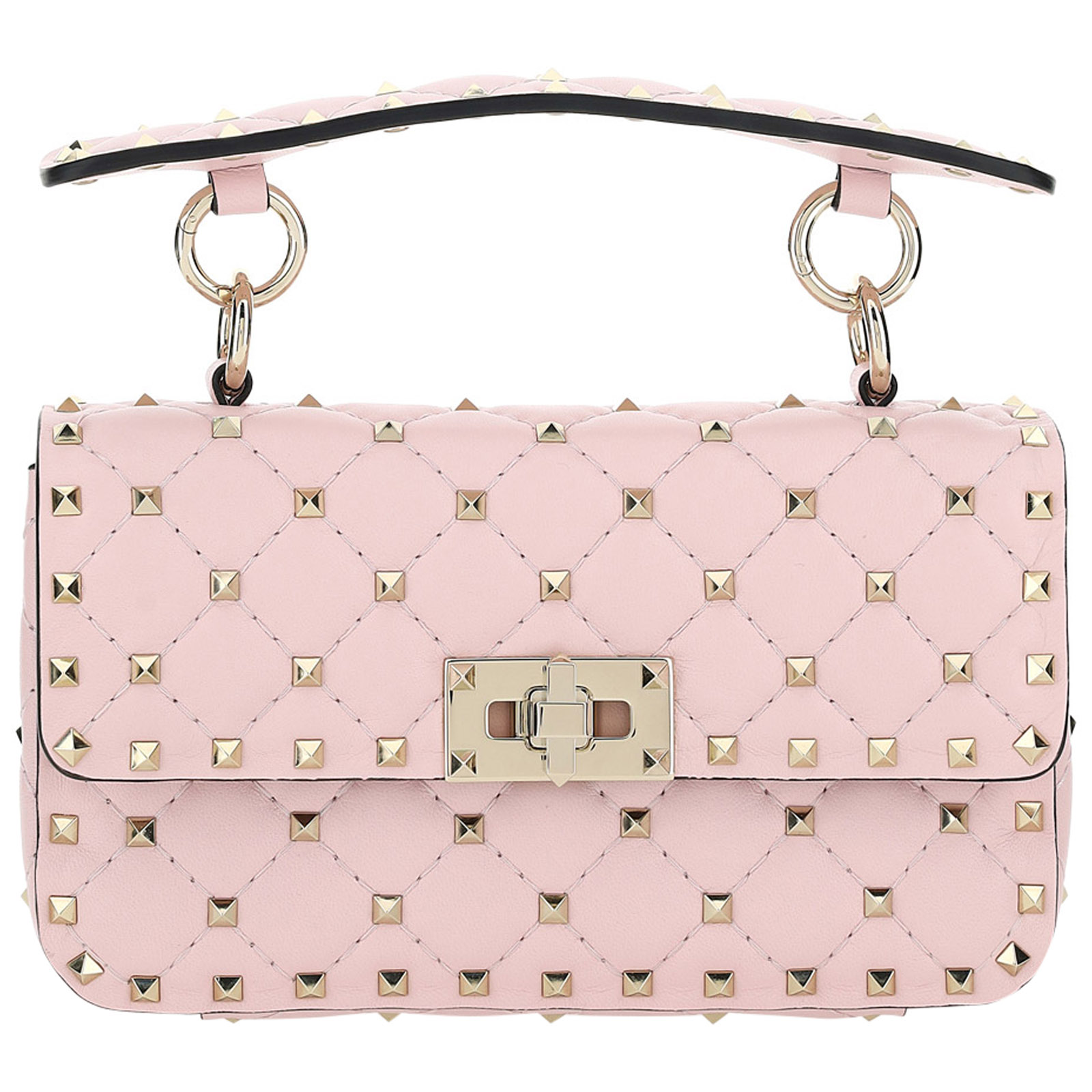 Valentino Wallets WOMEN'S LEATHER HANDBAG SHOPPING BAG PURSE  ROCKSTUD SMALL
