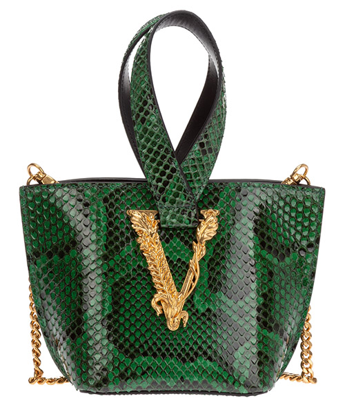 Handbags Versace virtus python DBFH523-D3PML_KVDOT verde