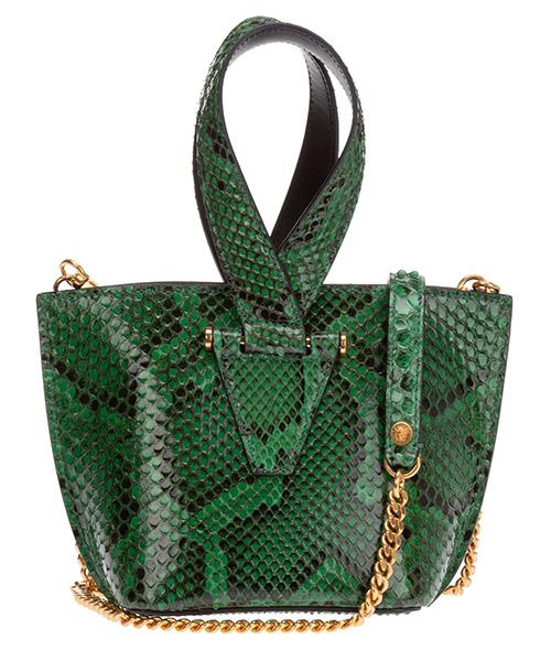 Women's leather handbag shopping bag purse virtus python secondary image