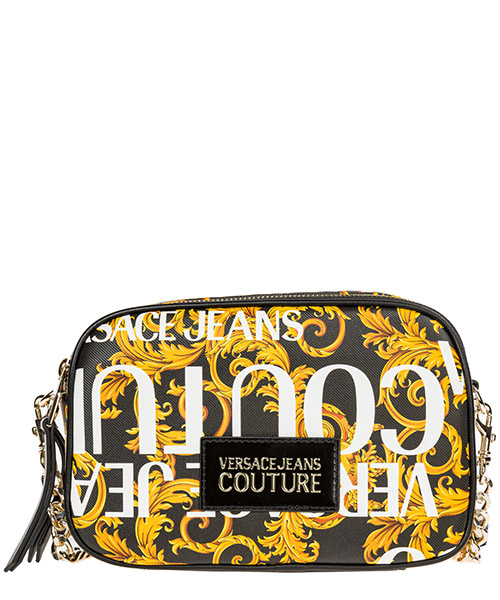 Shoulder bag Versace Jeans Couture logo baroque ee1vubbs7-e40328_em27 nero