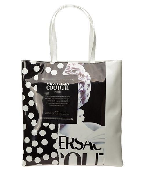 Schultertasche Versace Jeans Couture etichetta ee1vvbbx1-e71421_emi9 bianco