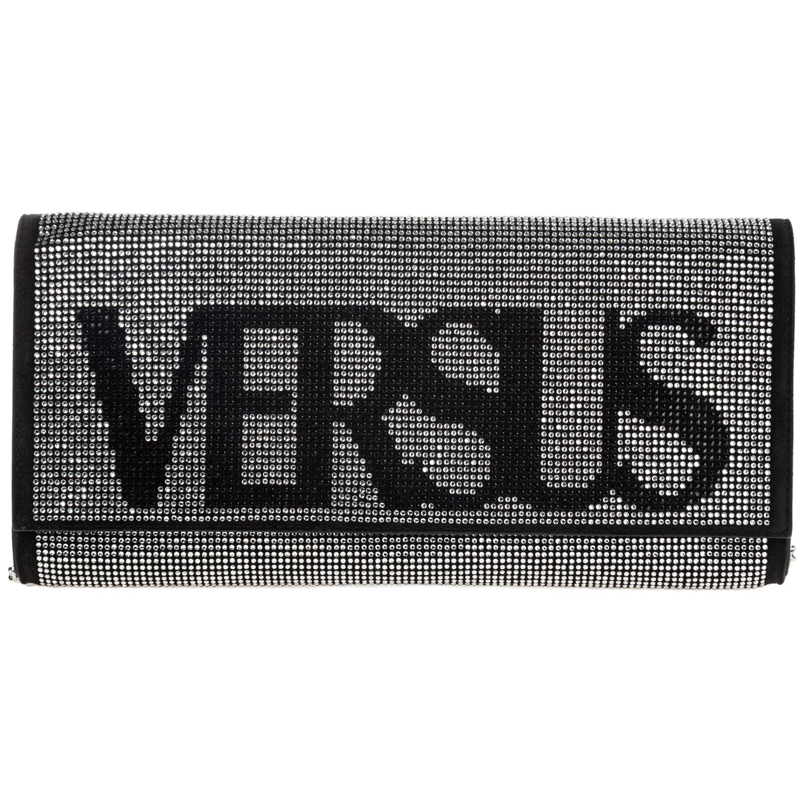 Women's leather clutch with shoulder strap handbag bag purse  vintage logo