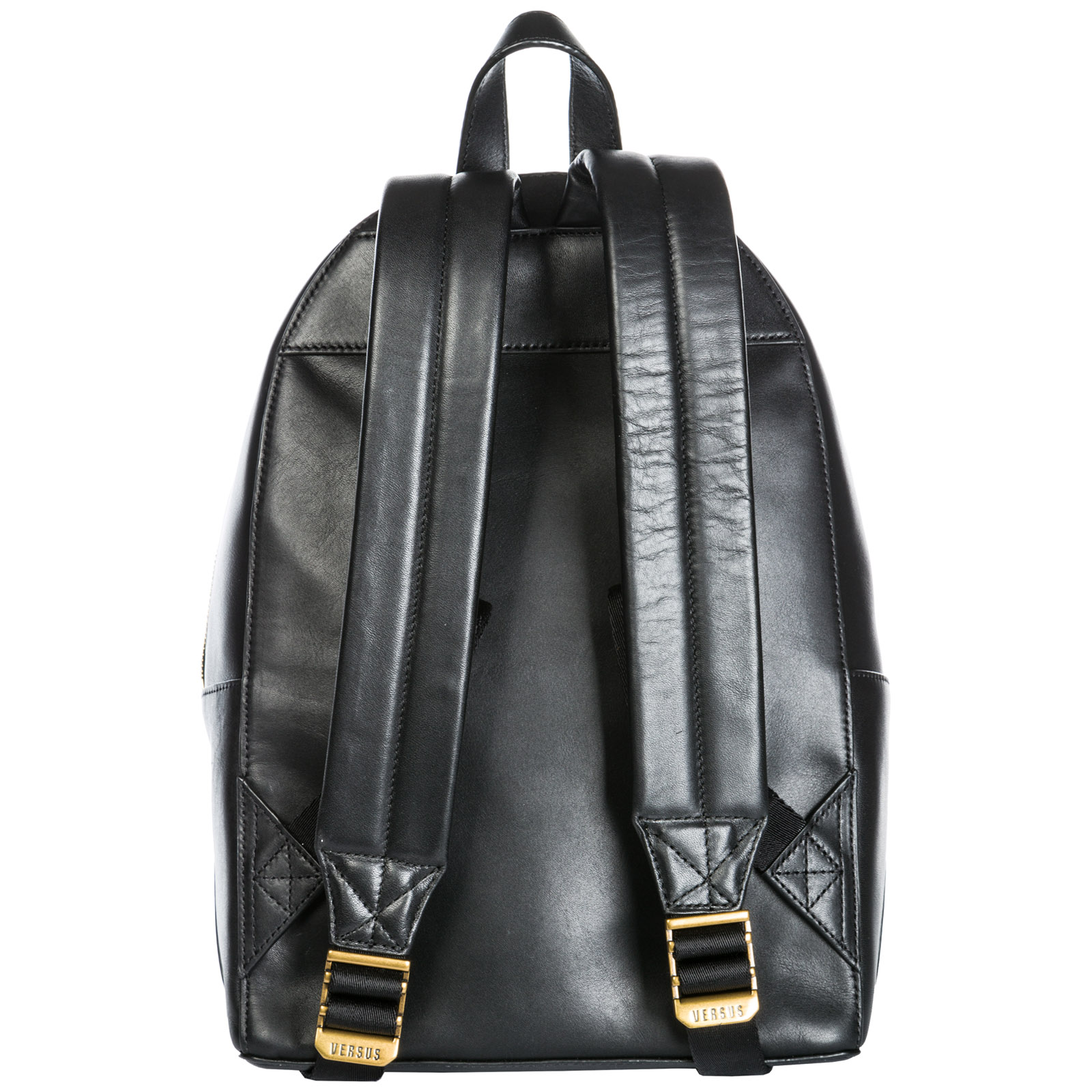 Women's leather rucksack backpack travel  lion head