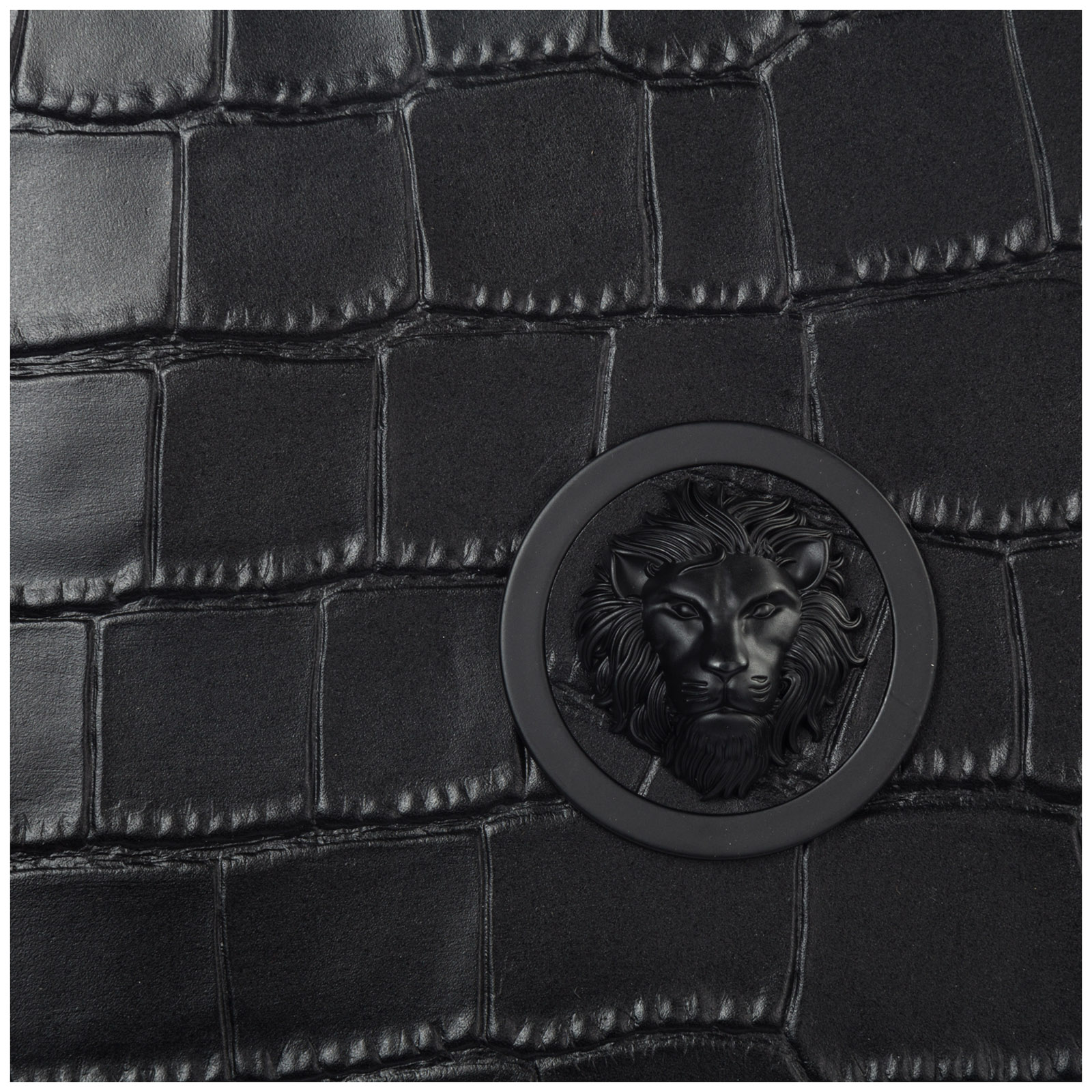 Women's leather clutch handbag bag purse  lion head