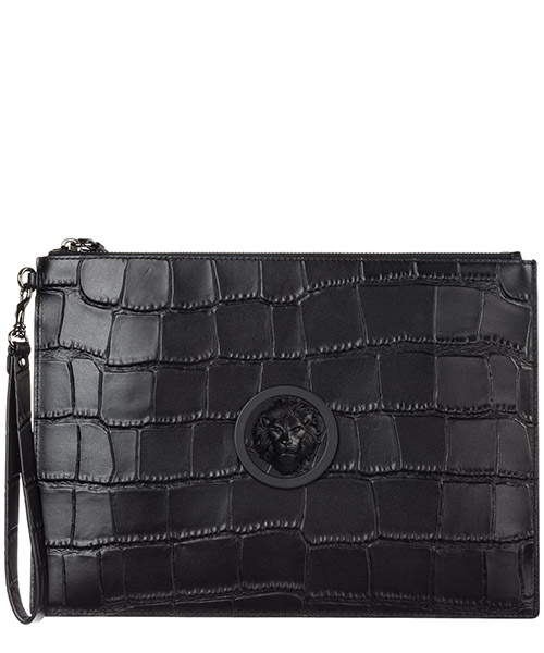 Clutch bag Versus Versace Lion Head FPX0042-FBCCM_F461C black