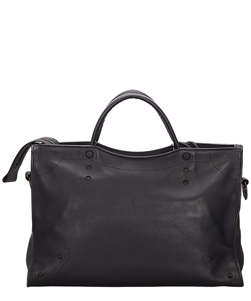 Women's leather handbag shopping bag purse blackout city secondary image
